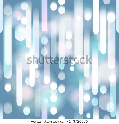 Seamless dark blue abstract background with falling lights. Eps10 - stock vector