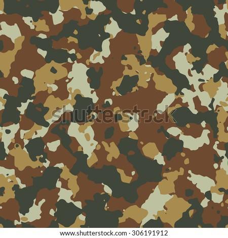Seamless dark desert fashion camouflage pattern vector - stock vector