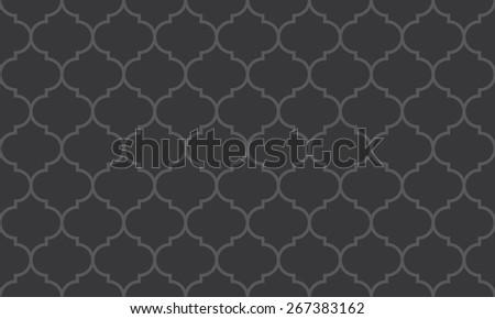 Seamless dark gray wide moroccan pattern vector - stock vector