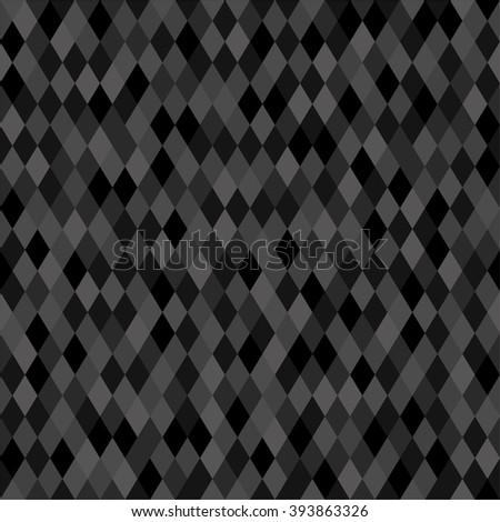 seamless dark neutral pixel background for web design - stock vector
