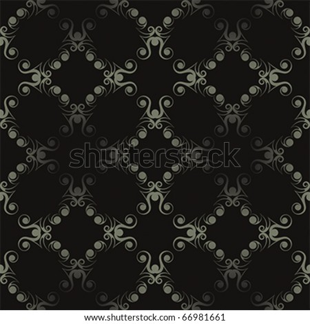 Seamless deco ornament in dark colors