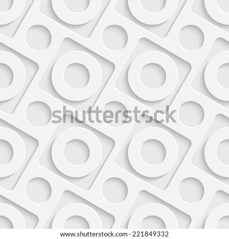 Seamless Decorative Background - stock vector