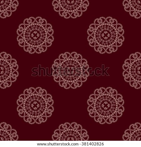 seamless decorative background, mandala vector