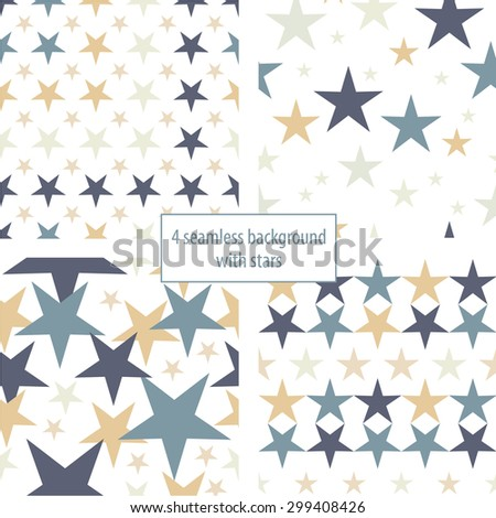 Seamless decorative background with stars