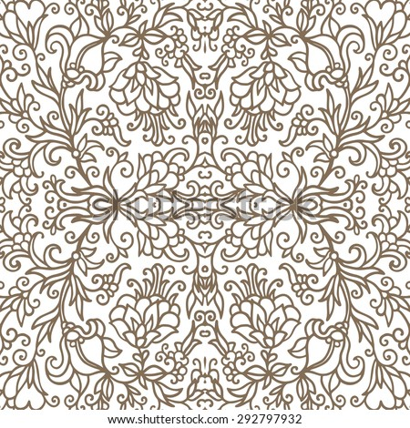 Seamless decorative pattern - stock vector