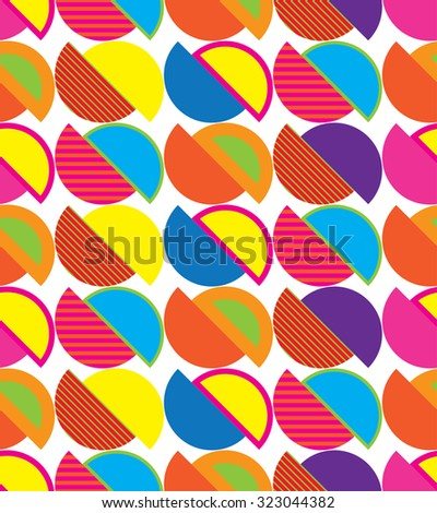 Seamless decorative vector background with semicircles