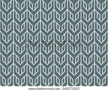 Seamless denim blue overlocking tribal pattern vector - stock vector