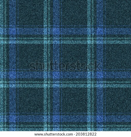 Seamless denim pattern texture. Jeans fabric into the cell. Vector illustration. - stock vector