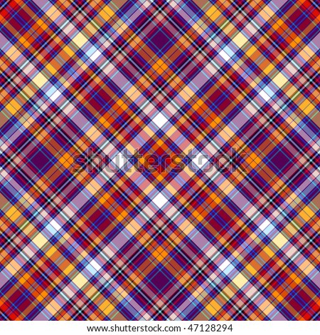 Seamless diagonal dark tartan pattern (vector EPS 10) - stock vector