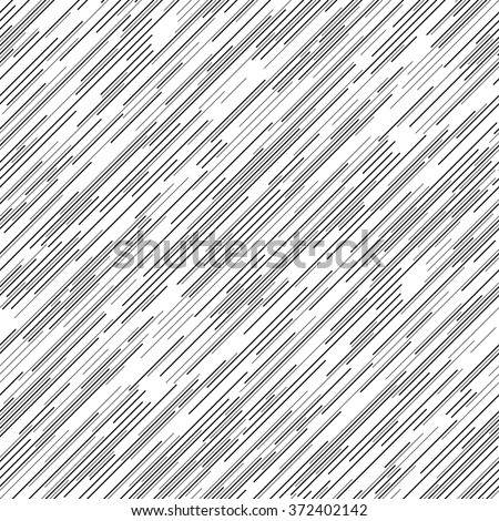 Seamless Diagonal Line Pattern. Vector Black and White Background - stock vector