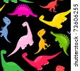 seamless dinosaur pattern - stock photo