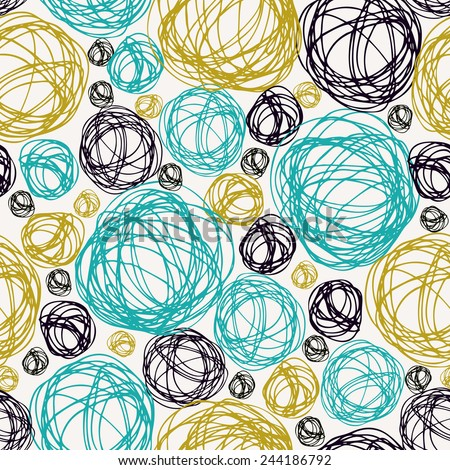 Seamless doodle background. Endless colorful summer texture. Hand drawn pattern for design and decoration textile, covers, package, wrapping paper, wear, bags - stock vector