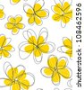 Seamless doodle floral pattern. - stock vector