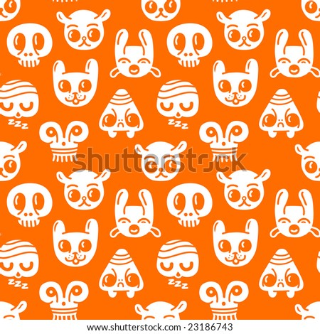 Seamless doodles background. Vector illustration. - stock vector