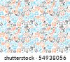 Seamless doodles pattern. Vector illustration. - stock vector