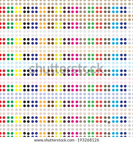 Seamless dot pattern, vector background.