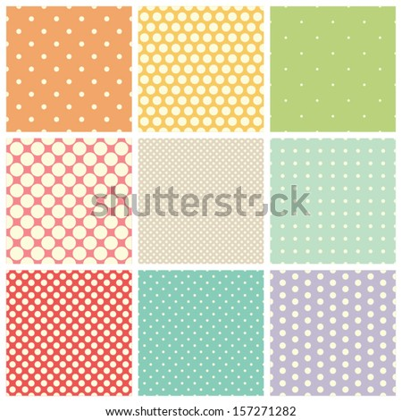 seamless dots patterns - stock vector