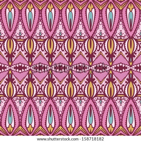 seamless east pattern - stock vector