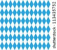 Seamless (easy to repeat - you see 9 tiles ) Oktoberfest and Bavarian flag pattern or background with fabric texture ( for high res JPEG or TIFF see image 113435746 )  - stock vector