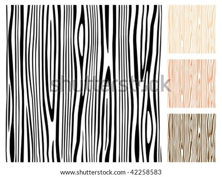 Seamless editable wood pattern. - stock vector