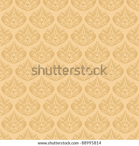 Seamless Elegant Pattern - stock vector