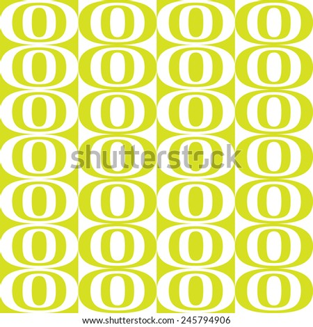 Seamless Ellipse Pattern. White and green. - stock vector