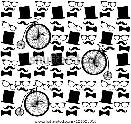 Seamless English man background - stock vector