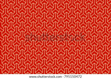 Seamless ethnic geometric three-dimensional pattern. Vector ornament. Japanese pattern