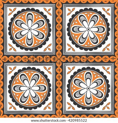 Seamless ethnic pattern. Decorative ornament for fabric, textile, wrapping paper, card, invitation, wallpaper, web design; - stock vector