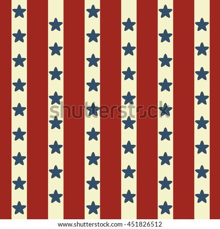 Seamless Faded Stars and  Stripes Pattern - stock vector