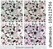 seamless fashion pattern set in multiple colors - stock vector