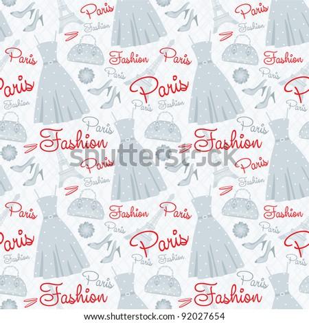 Seamless fashion pattern. vector - stock vector