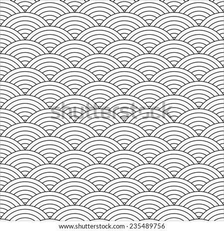 seamless fish scale texture - vector background, fully editable, you can change form and color - stock vector