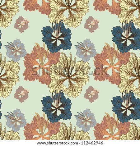 Seamless floral background, EPS10 Vector background - stock vector