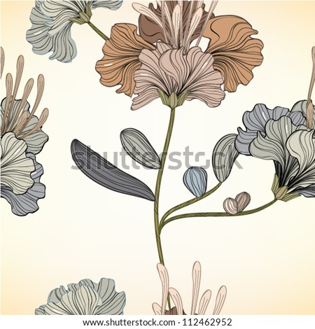 Seamless floral background, EPS10 Vector background