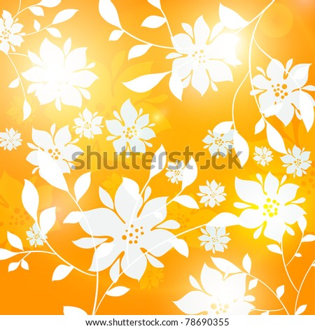 Seamless floral background for summer design - stock vector