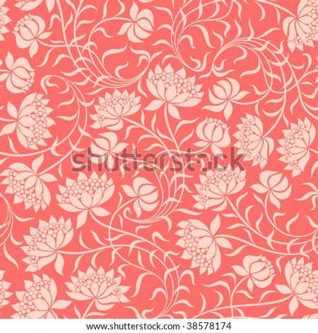 Seamless floral background. Vector illustration.