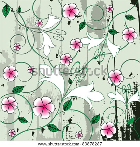Seamless Floral Decorative - stock vector