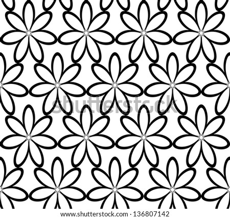 Seamless floral ornament, vector illustration