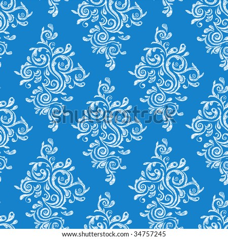 Seamless floral ornament. Vector illustration. - stock vector