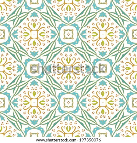 Seamless floral ornamental pattern - stock vector