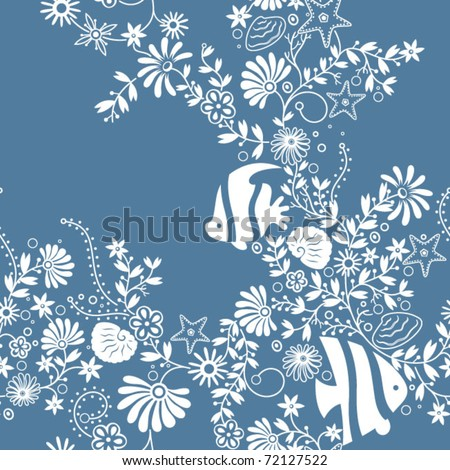 Seamless Floral Pattern 1 - stock vector