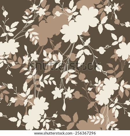 Seamless floral pattern. Abstract background.  - stock vector