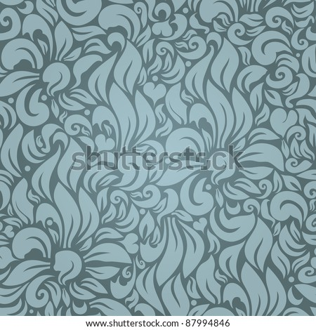 Seamless floral pattern against a uniform background - stock vector