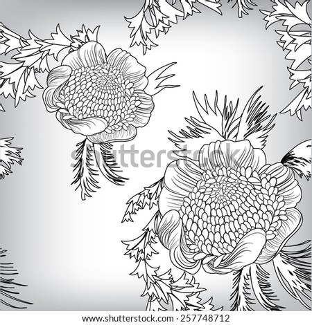 Seamless floral pattern background, EPS10 Vector background