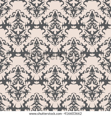Seamless floral pattern background wallpaper abstract elegant vector