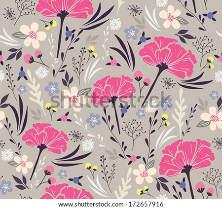 Seamless floral pattern. Background with flower. pattern, pattern, pattern, pattern, pattern, pattern, pattern, pattern, pattern, pattern, pattern, pattern, pattern, pattern, pattern, pattern, pattern - stock vector