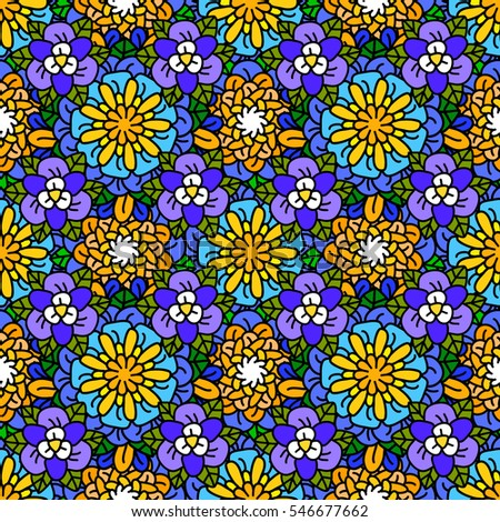 Seamless floral pattern. Ditsy floral background. The elegant the template for fashion prints.