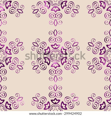 Seamless floral pattern, floral design vector. - stock vector
