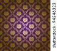 Seamless floral pattern. Flowers on a purple background. EPS 10 - stock vector